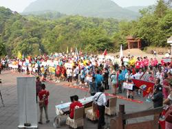 参加协会登山活动