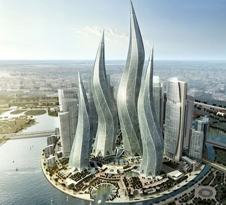 迪拜风中烛火大厦
