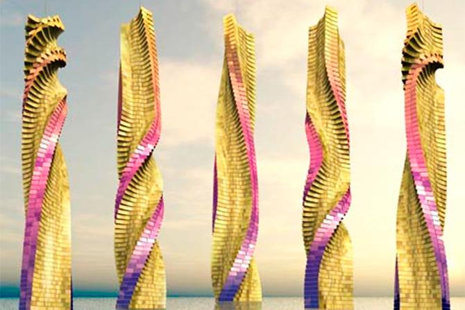 迪拜螺旋摩天大楼